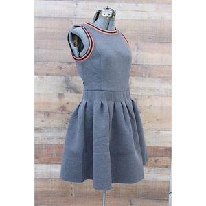 English Factory Gray Skater Dress A-Line Medium